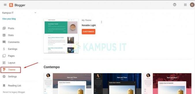 membuat blog di hp dan desktop