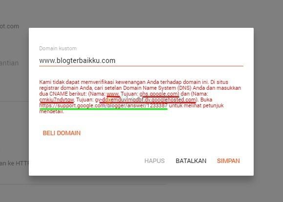 Panduan Custom Domain Blogger paling mudah
