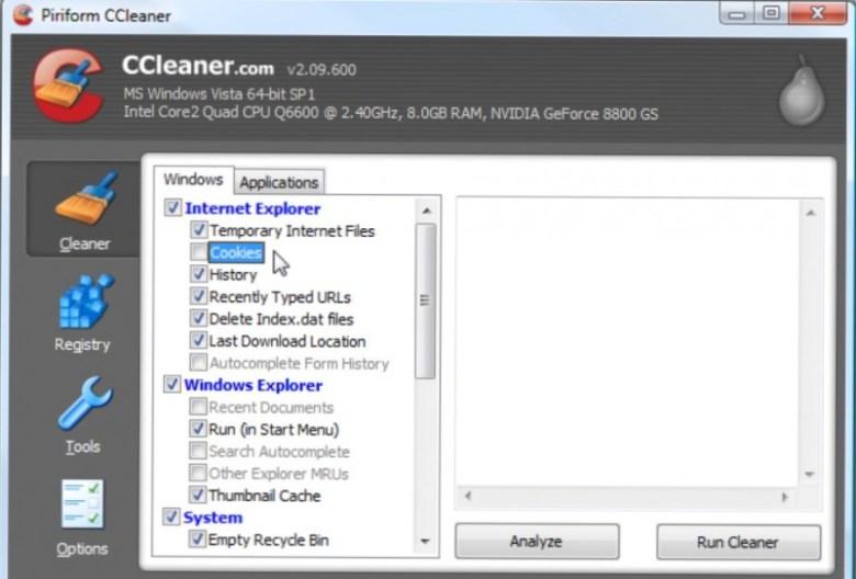 CCleaner untuk Mempercepat Laptop