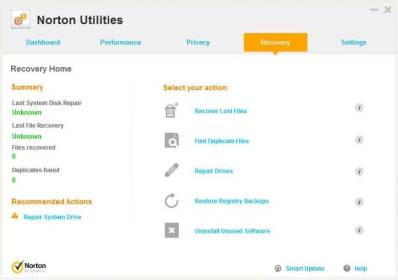 Symantec Norton Utilities untuk Mengoptimalkan Laptop
