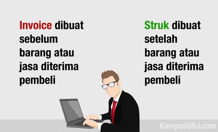 Perbedaan invoice atau faktur dengan struk belanja.