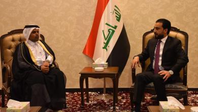 Photo of الحلبوسي يلتقي القائم بالاعمال بالإنابة بسفارة دولة قطر في العراق
