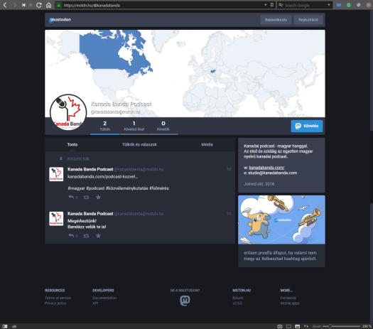 A Magyar Mastodon Közösség a(z) MSTDN0.hu webcímen érhető el. A Kanada  Banda Mastodon oldalát pedig itt találod  https   mstdn.hu  kanadabanda. ee02f73563