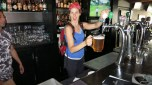 Heather pouring us a pitcher!