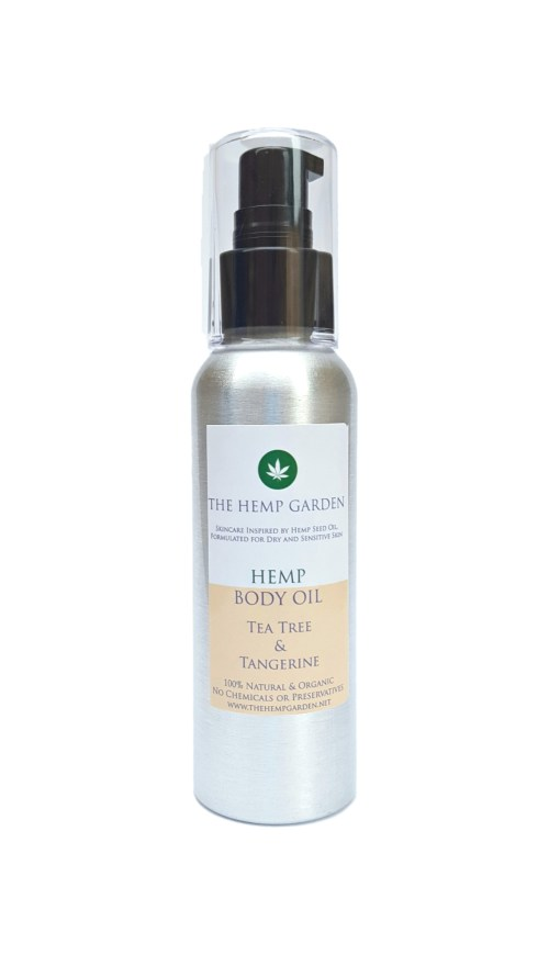 Hemp Garden Body Oil Tea Tree Tangerine