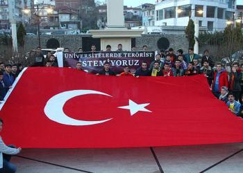 Boğaziçi'nde yaşanan olay Kırklareli'nde protesto edildi