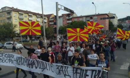Фото: Струмичани на протест- бараме слободни избори и криминалците зад решетки