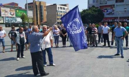 Протест на полицискиот синдикат  во Струмица за подршка и одбрана на полицаецот што рани две момчиња