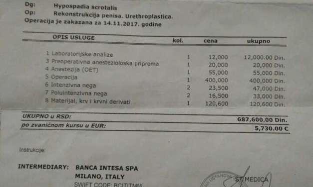 Коцеви од Злеово бараат помош за нивниот 5 годишен син за операција во Белград