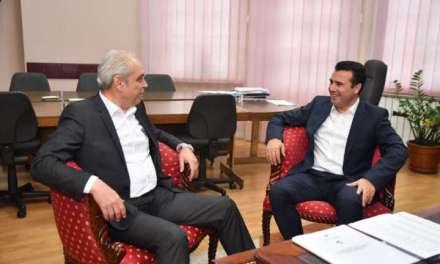 Средба на премиерот Заев со градоначалникот на Струмица, Коста Јаневски