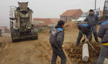 Се бетонира улица над турските гробишта