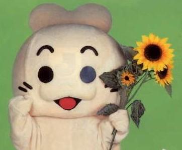 横浜AIDS市民活動センターのマスコットのコムちゃん(センターブログより)
