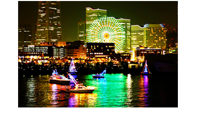 YOKOHAMA☆スターシップ (C)YOKOHAMA BAYSIDE MARINA(横浜スパーリングトワイライト 公式サイトより)