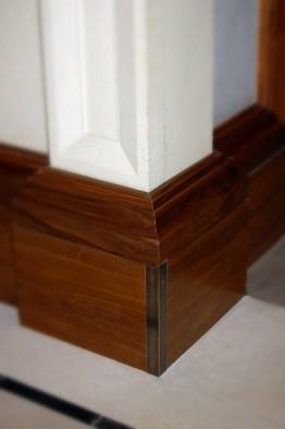 Base molding detail