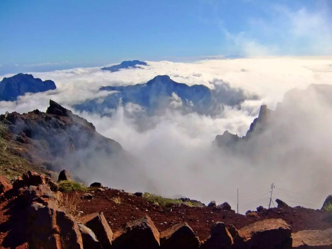 La Palma über den Wolken - Caldera