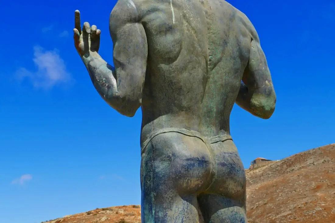 Bronzestatue - Guanchenkönig