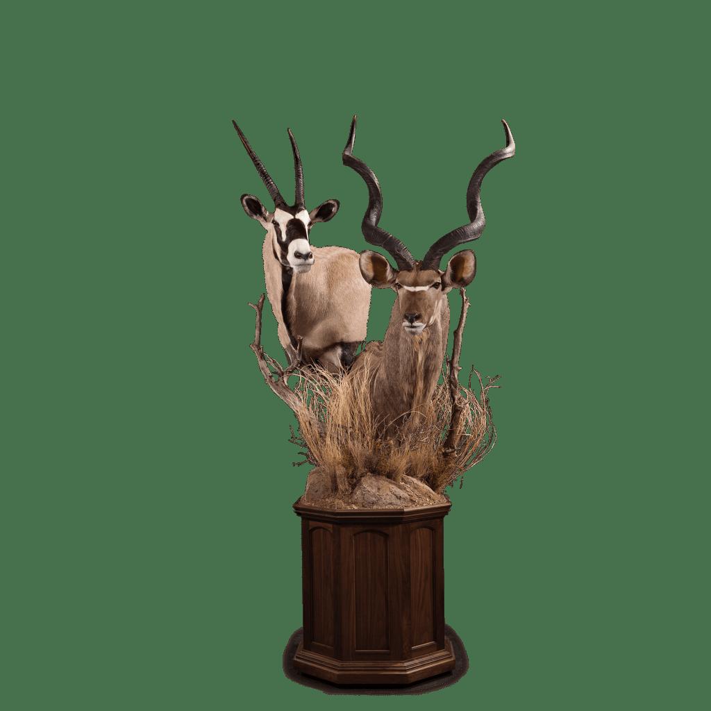 kudu and gemsbok pedestal