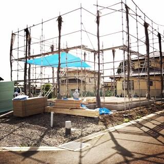 7月最終日、佐野ではフレーミング工事が始まっております!