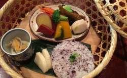 加賀野菜を堪能できる見た目もバッチリの竹かご弁当 @ 十月亭