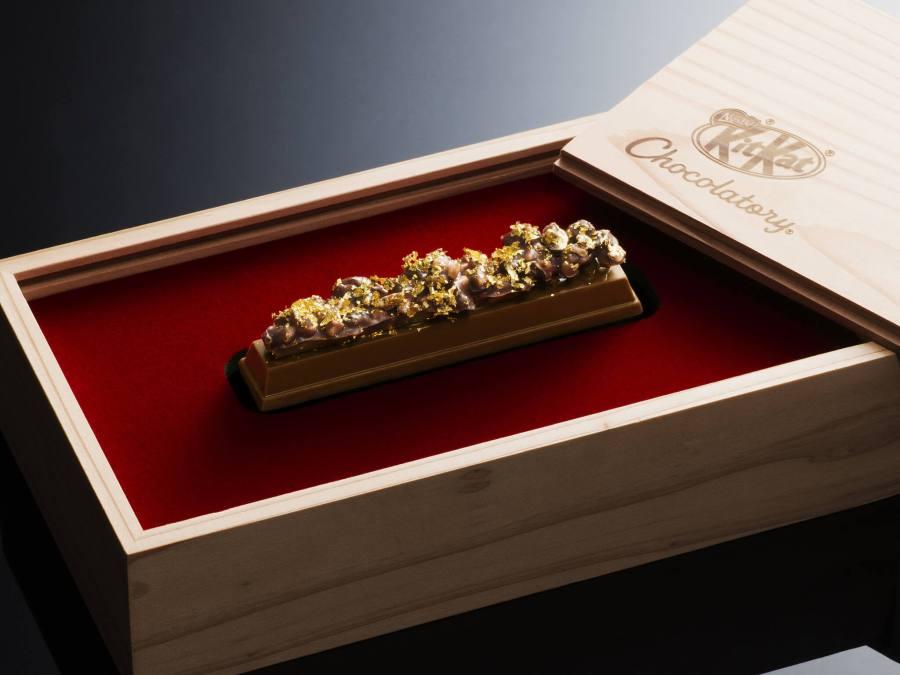 金沢金箔をあしらった贅沢なキットカットが誕生。その名も『キットカット ショコラトリー モレゾン 金箔』