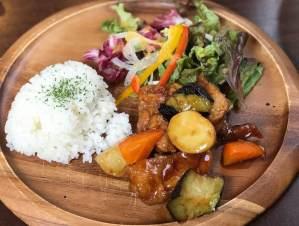 野菜たっぷりのヘルシーランチ @ かなやキッチン
