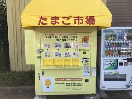 たまごの自販機が大桑「楽ちんの湯」にOPEN!