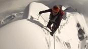 Alberto on the impressive South Simvo North Ridge. Cesar and Davide below