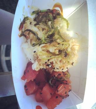 Ahi Tuna Rice Bowl @ Funky Monkey
