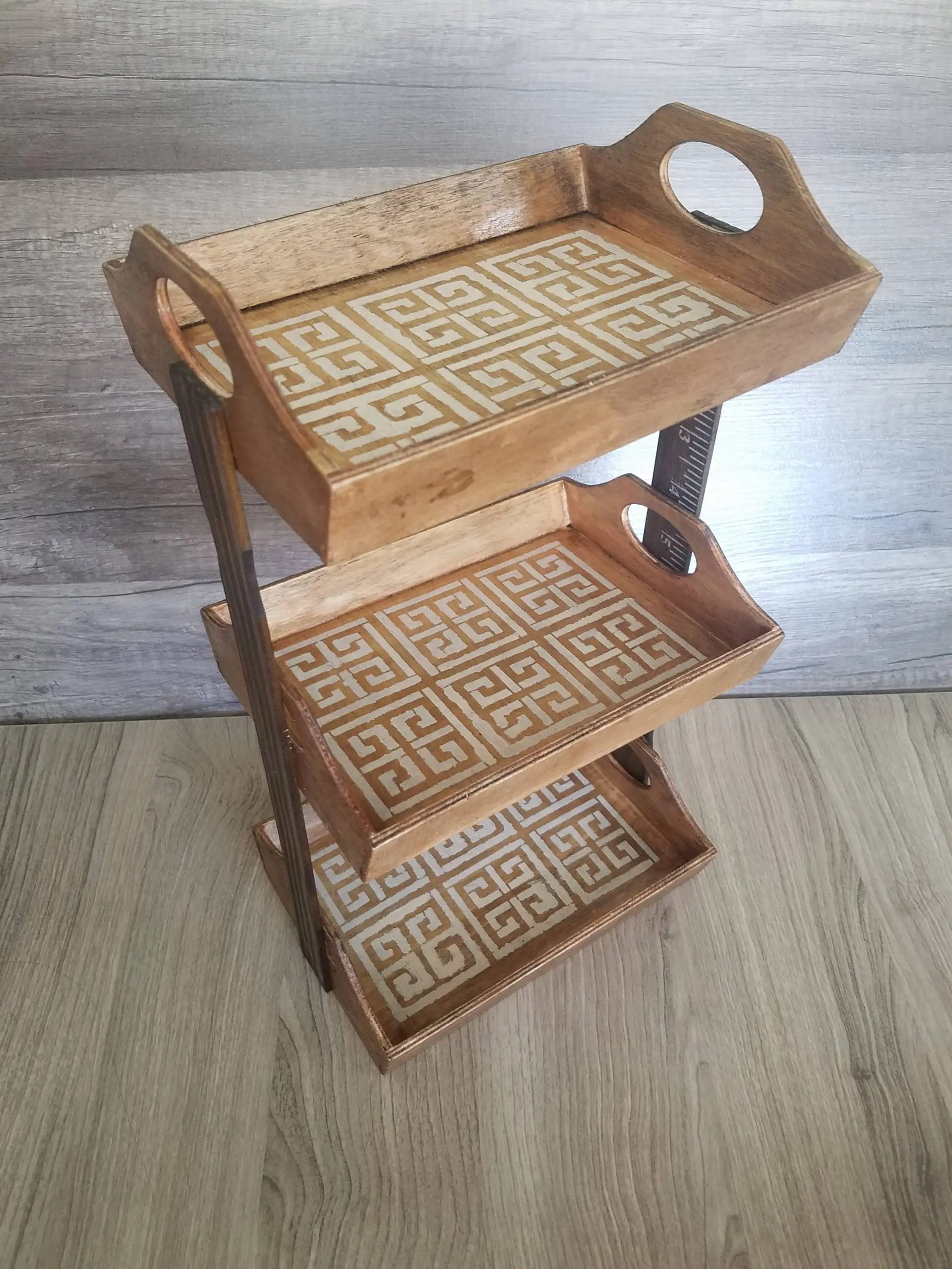 You are currently viewing 3 Tier Dollar Tree Wooden Tray DIY