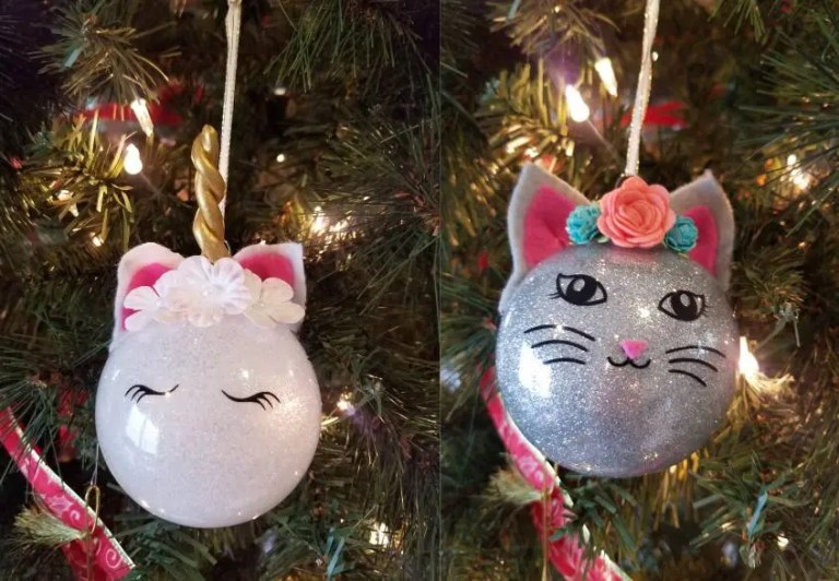 Read more about the article How To Make A Glitter Ornament, Cat And Unicorn