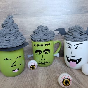 SVG File Of Halloween Faces For Hot Chocolate Cups