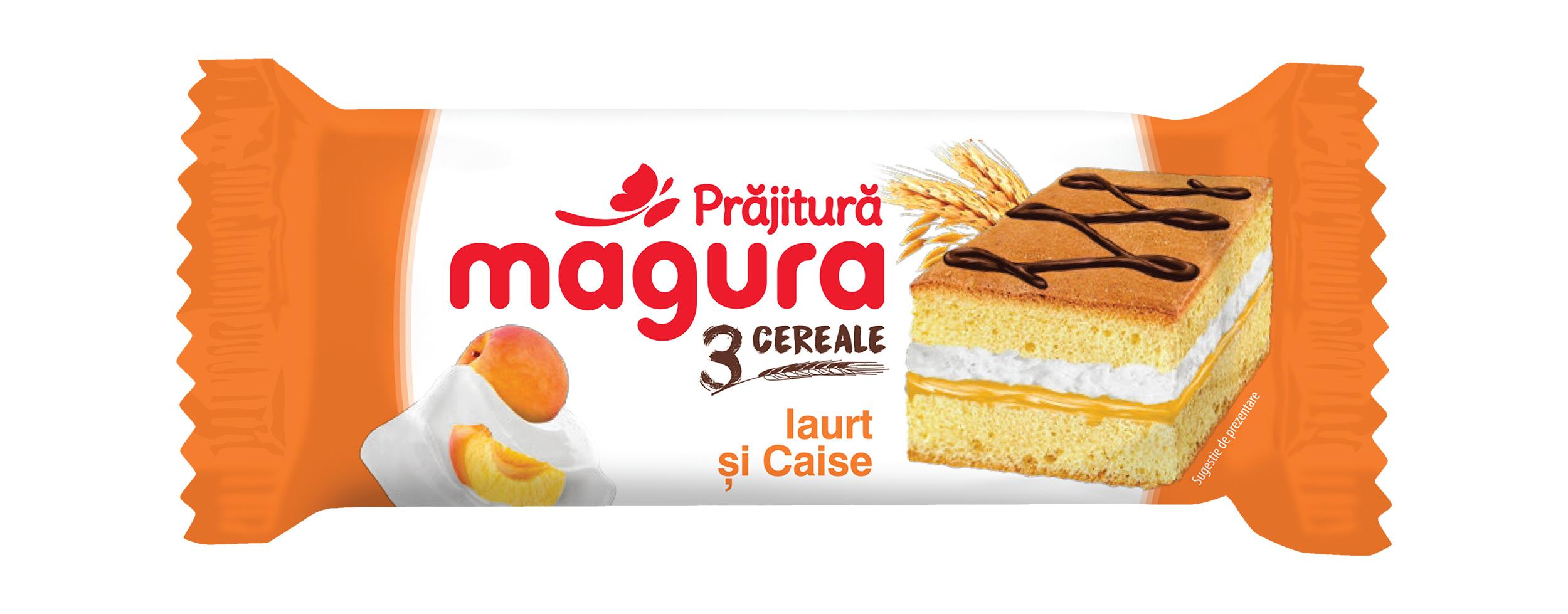 Magura 3 Cereale, Crema Iaurt & Caise 24x30g