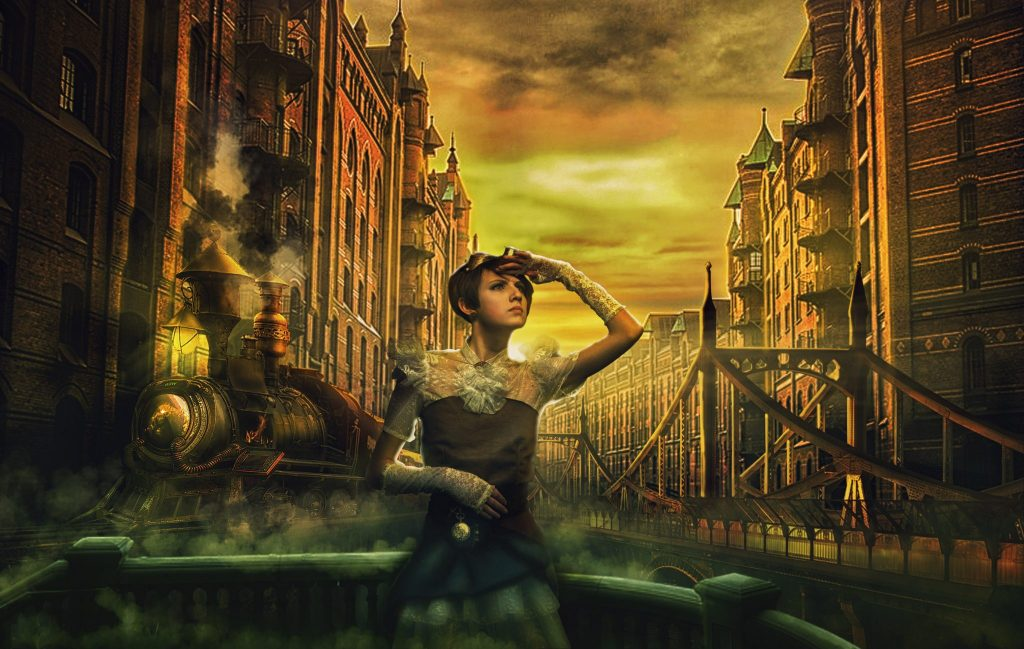 "img=""steampunk city"""