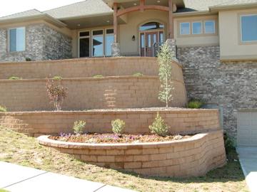 Tiered retaining walls