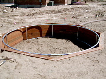 In ground trampoline construction