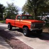 Orange Copper Kandy and Gold Spectre Pearl on Ford F-150 Kustom Paint.