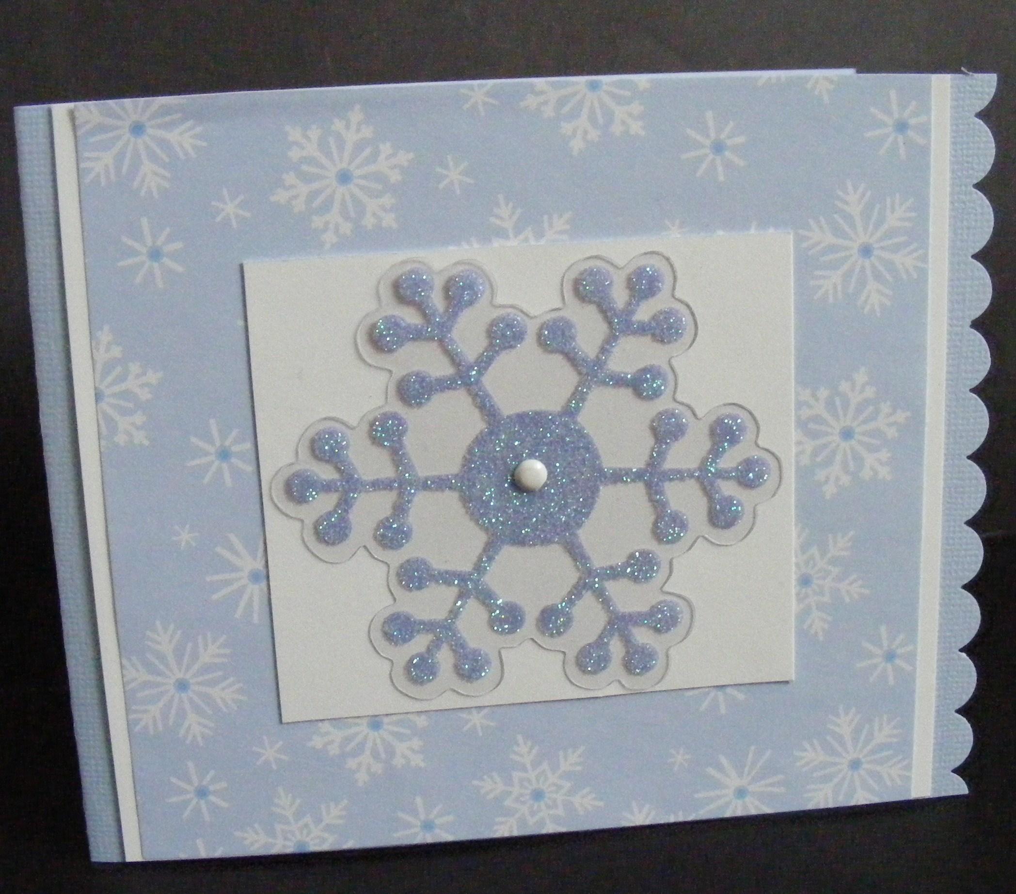 Winter Blues Greeting Card