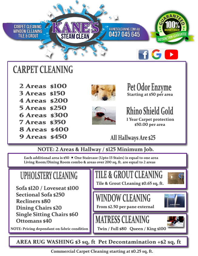 carpet cleaner price swan hill