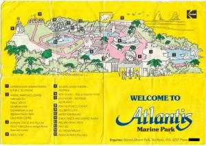 An Atlantis Marine Park brochure.