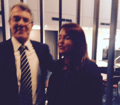 Federal MP Mark Dreyfus with Kimberley Kitching 31/3/15. Ms Kitching had criminal charges recommended against her by the Royal Commission last year for aiding and abetting crimes at the HSU. Ms Kitching is married to Andrew Landeryou.