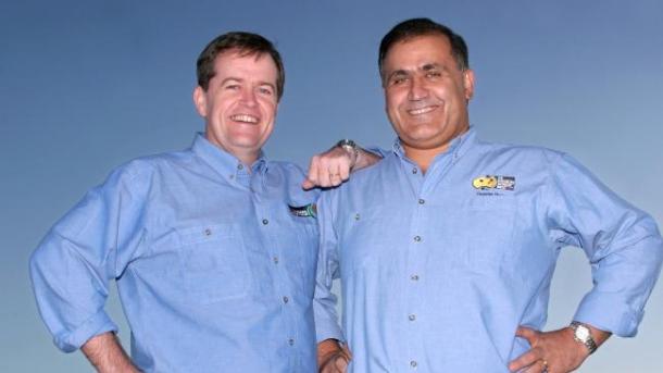 Bill Shorten and Cesar Melham