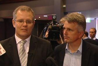 Prime Minister Scott Morrison and David Gazard