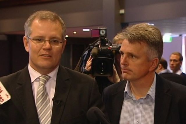 Prime Minister Scott Morrison and David Gazard