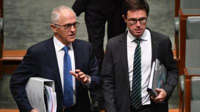 David Littleproud with former Prime Minister Malcolm Turnbull