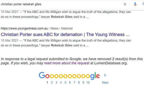 Christian Porter Rebekah Giles - Google 3