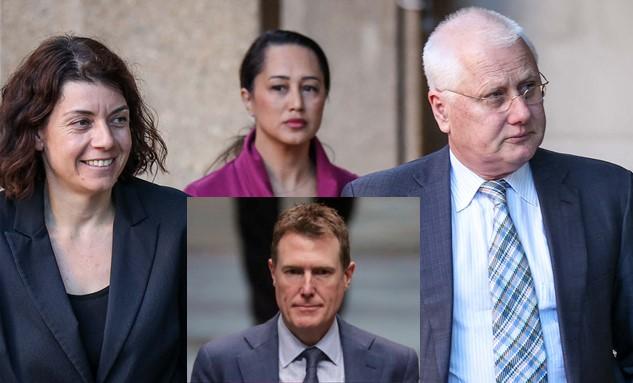Christian Porters legal team - Sue Chrysanthou SC, Rebekah Giles and Brett Walker SC