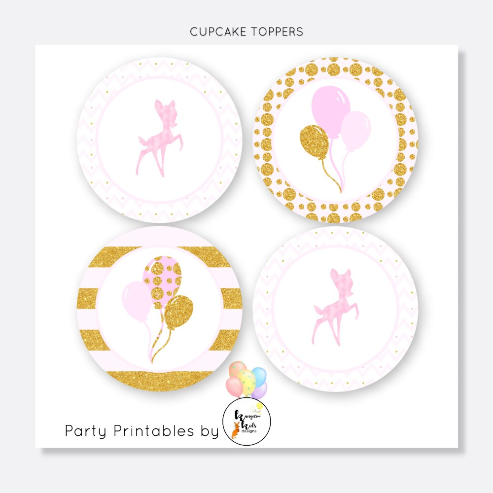 BAMBI CUPCAKE TOPPER SET-001-CT-1