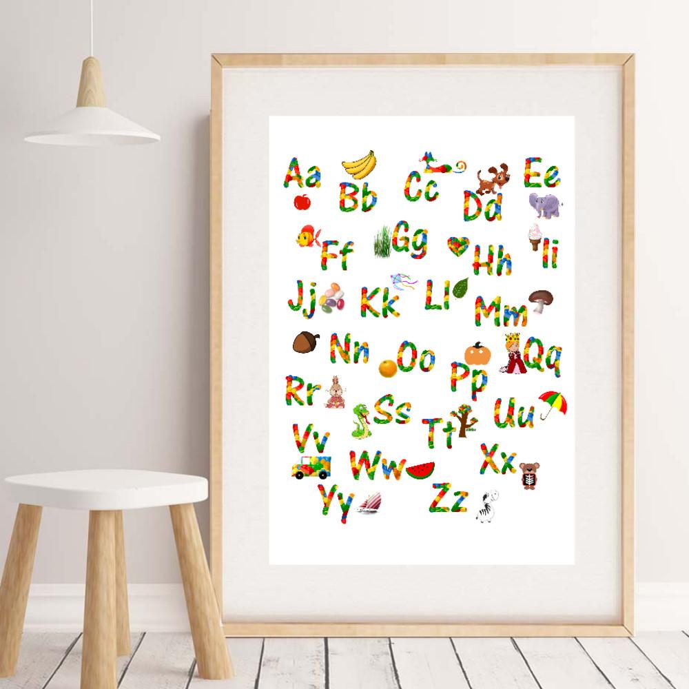Lego Alphabet Poster