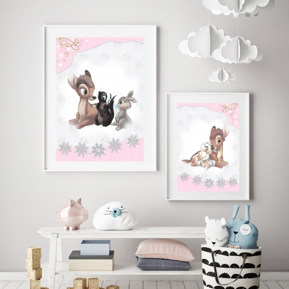 Bambi Nursery Prints