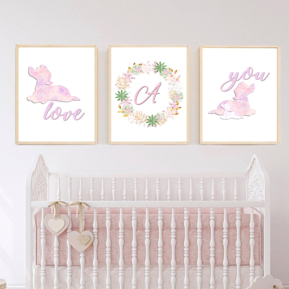 Personalised Bambi Digital Nursery Print Set